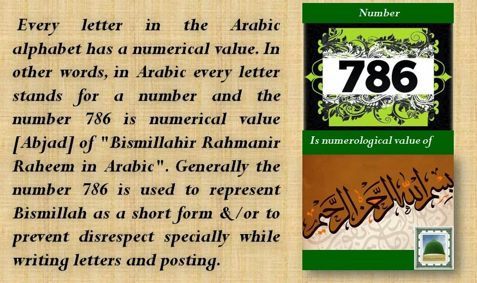 Islamic Beliefs Amp Teachings Numerological Value Of 786