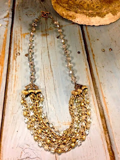 Gold and silver multi strand chain necklace by The Picked Hutch