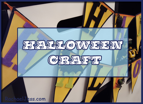 Creating quick and easy Halloween bunting