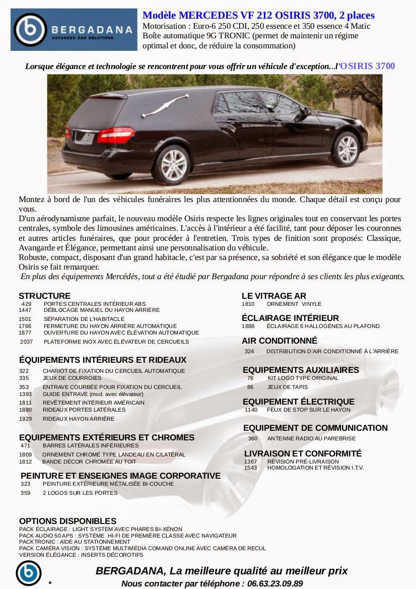 Corbillard limousine OSIRIS 3700