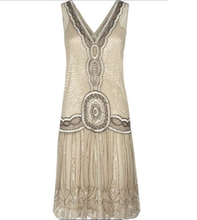 ... Daisy Buchanan in this intricately beaded Flapper Dress - Jigsaw £325