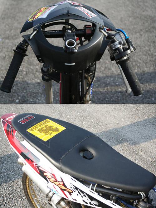 Yamaha MIO Drag Bike Team Phitsanu Singburi Fluke quest Thailand. title=