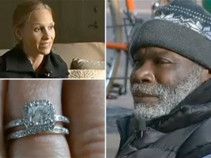 homeless man returns ring and becomes rich