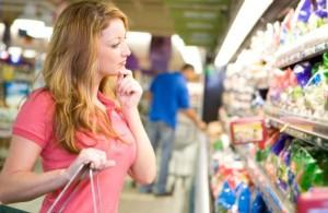 Easy Conversation Starters- Grocery Stores- girl in a supermarket