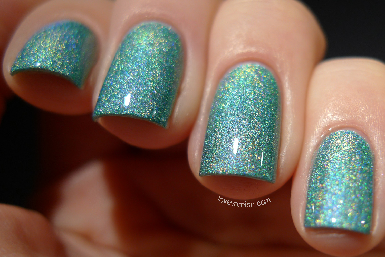 Catrice Luxury Lacquers Holomania Holo In One seafoam green holographic polish