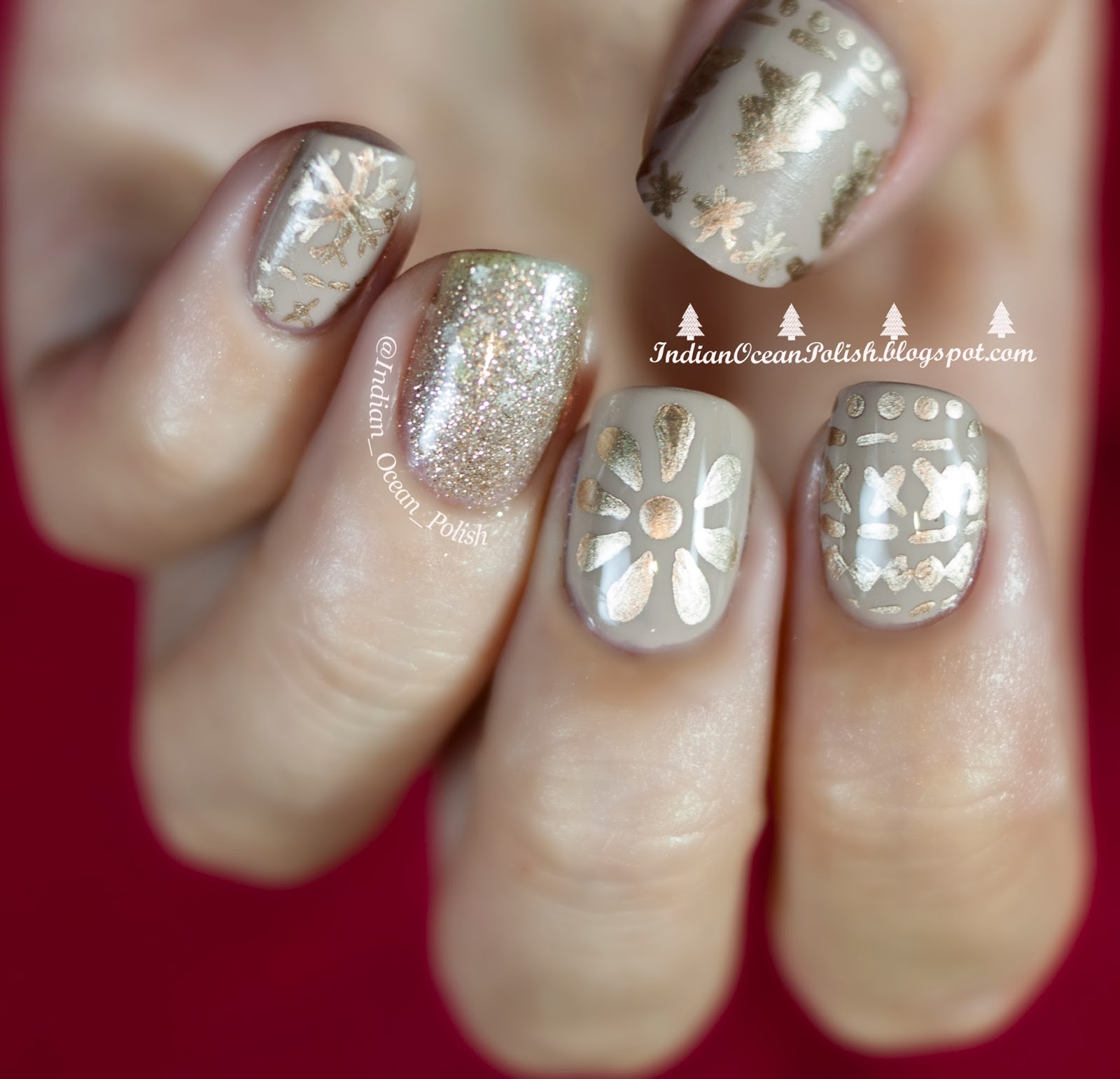 Indian Ocean Polish Christmas 2017 Nail Art Ideas Simple And Not So