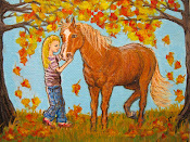 Girl and Her Horse II