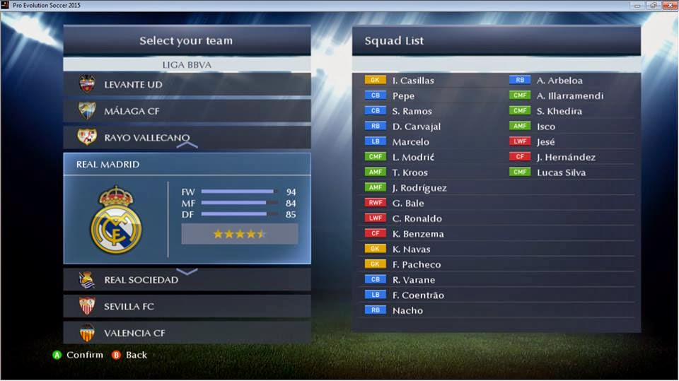 Option File PES 2015 untuk PESGalaxy 2.51 Update 5 Februari 2015