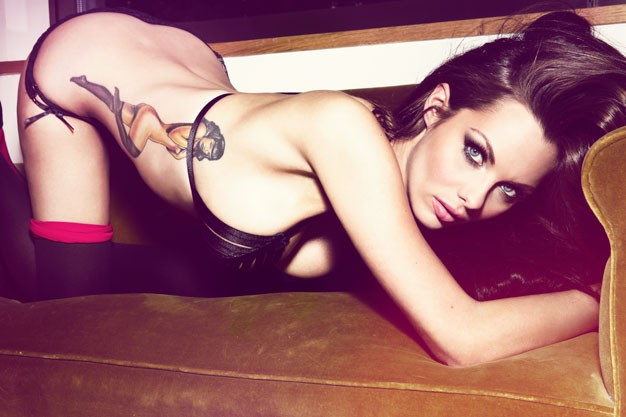 English Actress Jessica Jane Clement in lingerie