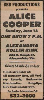 Alexandria Roller Rink Ad 13th June 1971
