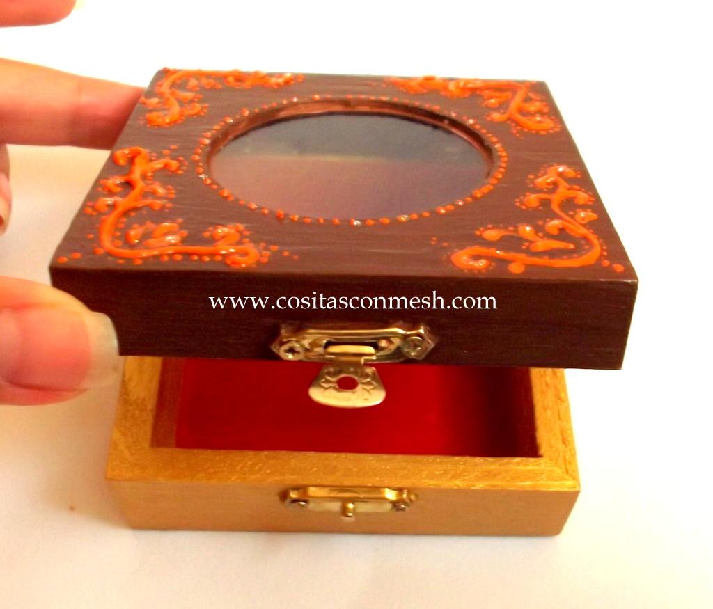 Como pintar y decorar una caja de madera  cositasconmesh