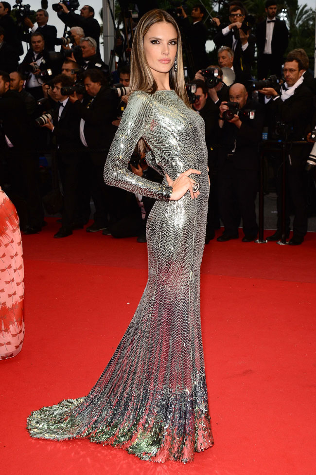 Alessandra Ambrosio - Cavalli gown at the 'All is Lost' Cannes Film Festival 2013 premiere