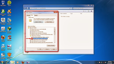 How to show hidden folder and files in windows 7 step11