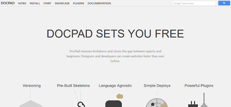 DocPad static web publishing system