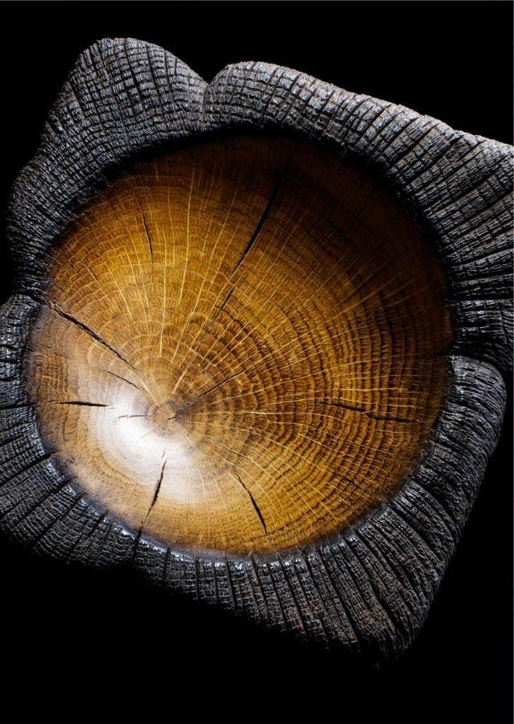 Cinzeiro madeira carbonizada