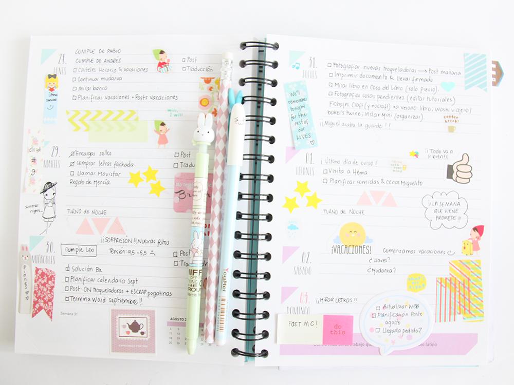 Scrap salamanca diarios creativos - Como decorar una agenda ...