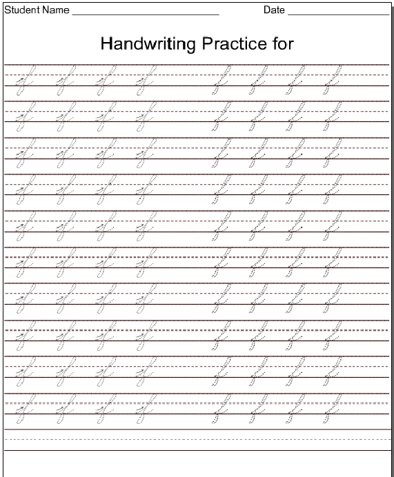 kindergarten worksheets lowercase cursive letter f