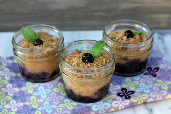 Upside Down Cheesecake In a Jar Minis