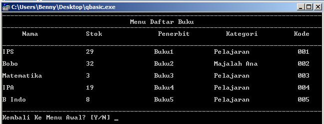 Membuat Database Menggunakan Q Basic