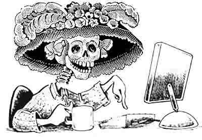 La catrina Dibujos para colorear del dia de los muertos
