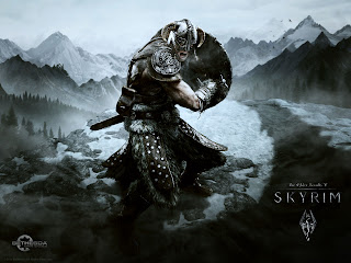 Skyrim wallpaper - Aerial Attack