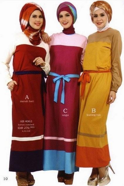 Baju muslim trendy terbaru untuk anak muda Foto baju gamis anak muda terbaru