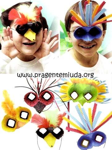 máscaras recicladas para primavera