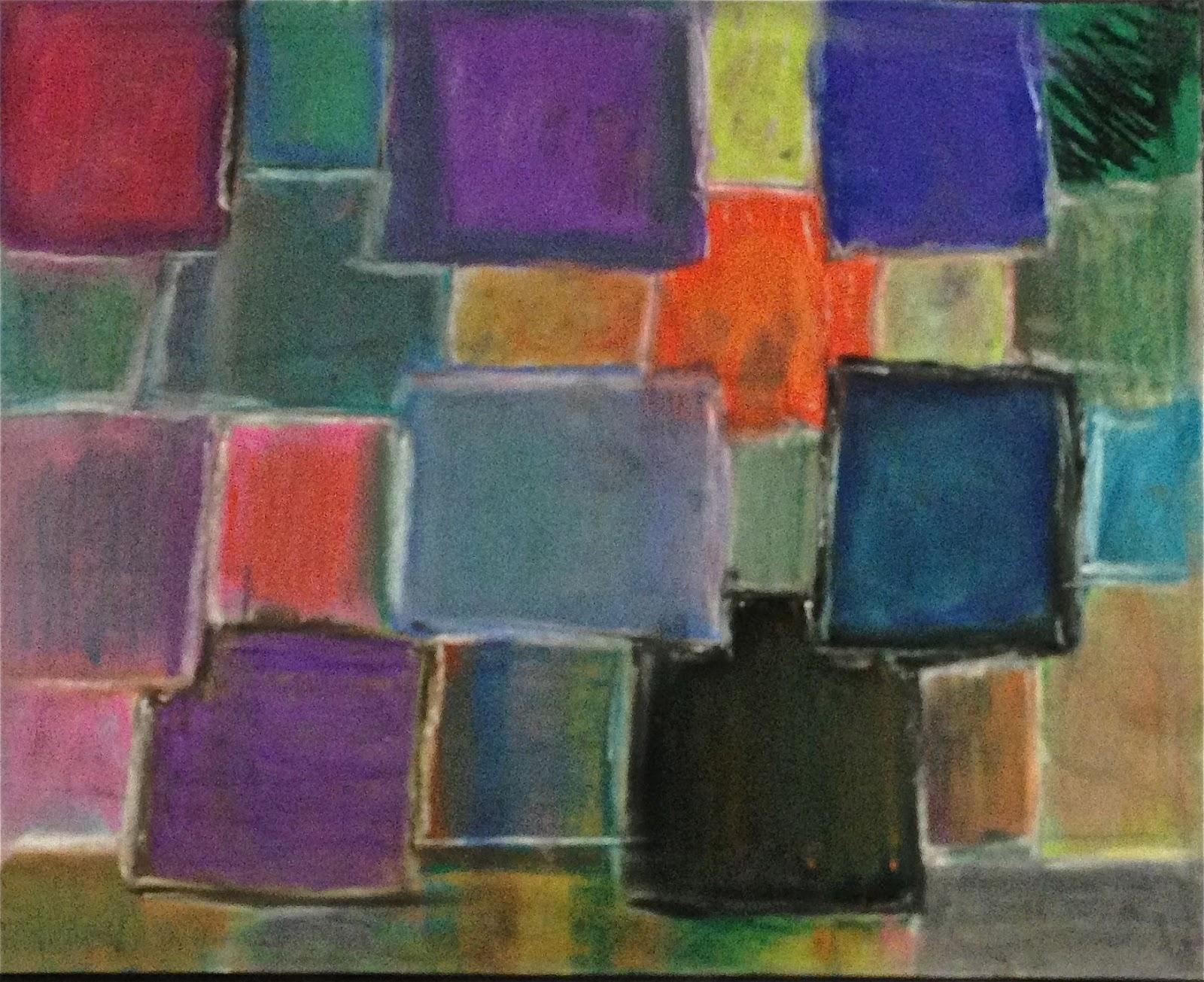 The art studio at ps 250 5th grade abstract chalk pastel explorations
