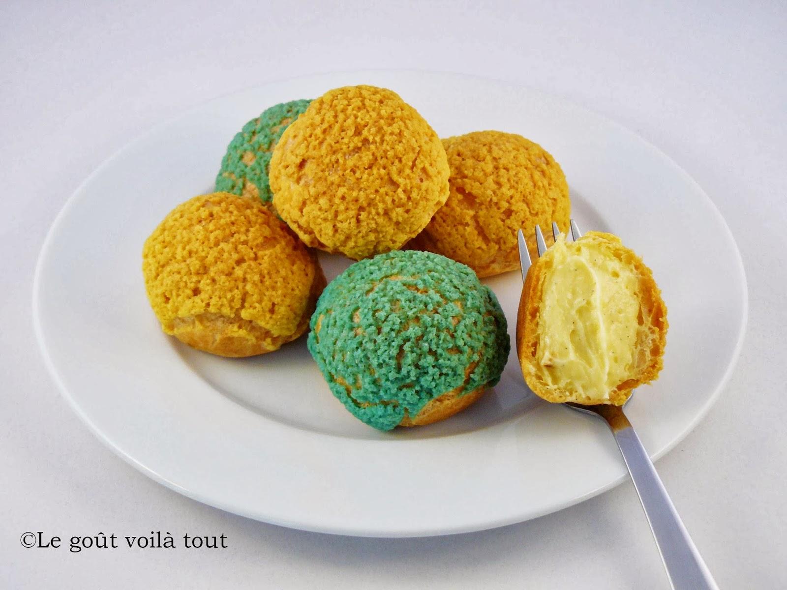 Choux tricotés vanille et pistache