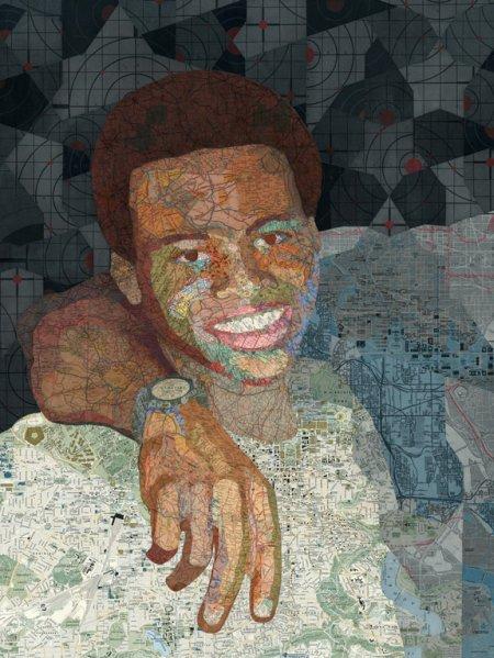 matthew cusick colagens de mapas formando figuras