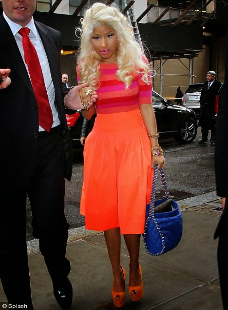 Nicki Minaj Rox Bold - Bright Colors for MAC Promo - Minaj Performing - All-Star
