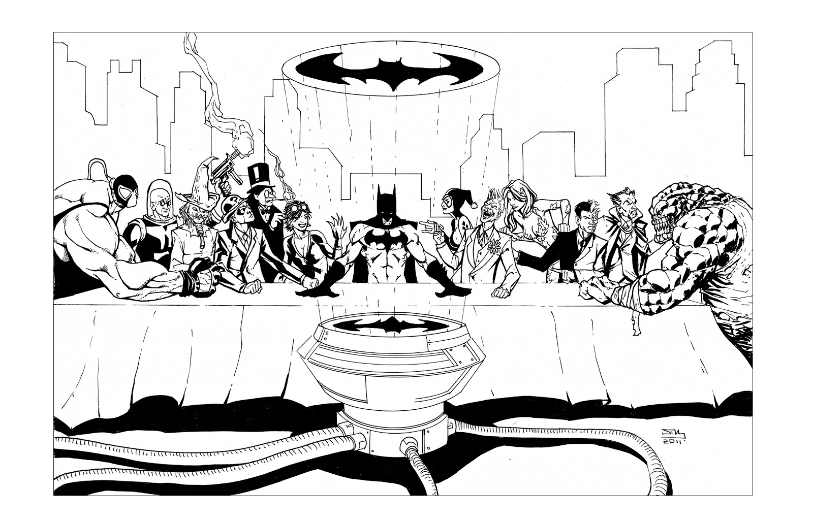 periodic heroes the last supper