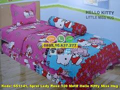 Harga Sprei Lady Rose 120 Motif Hello Kitty Miss Hug 2 Jual