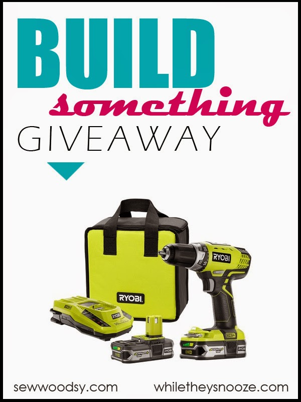 Build Something Giveaway! Enter to win a @RYOBITools 18V ONE+ Lithium+ Compact Drill/Driver Kit from @WhileTheySnooze and @KatieJasiewicz