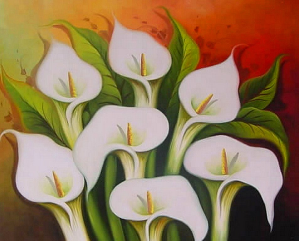 Cuadros modernos pinturas y dibujos cuadros con flores - Fotos cuadros modernos ...