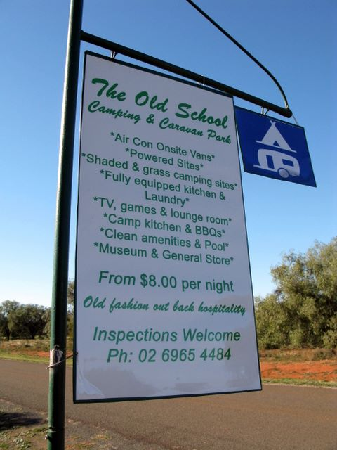 Caravan Park Signpost