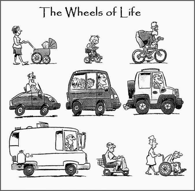 From child to old, everytime on wheels.