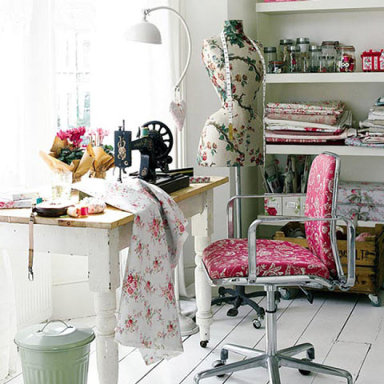 Como decorar y organizar un cuarto para costura ideas para decorar dise ar y mejorar tu casa - Small space sewing area style ...