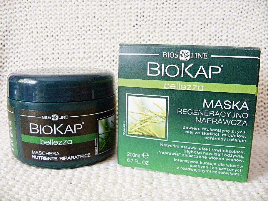 Rewitalizująco-naprawcza maska do włosów Bellezza, Biokap BiosLine