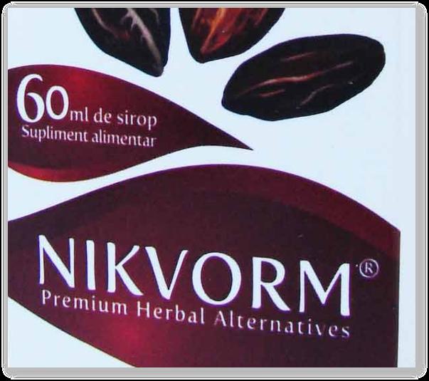 Nikvorm, sirop eficient contra viermilor si parazitilor intestinali