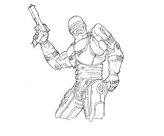 #8 Robocop Coloring Page