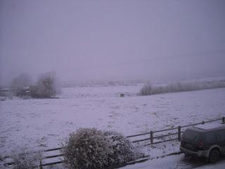 A wintry scene in the west of Ireland