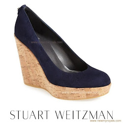 Kate Middleton Style STUART WEITZMAN Wedge and ANNOUSHKA Earrings