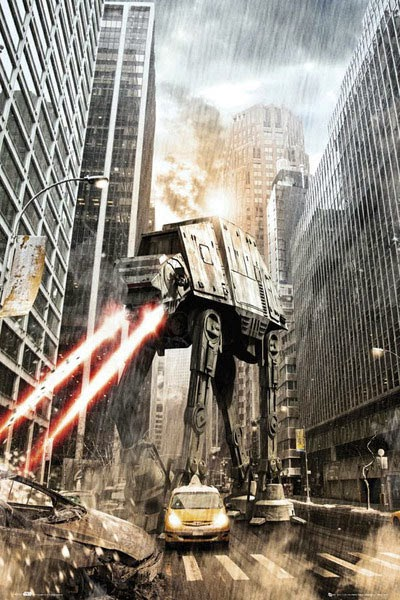 Poster Stra Wars At-AT Fighter ataca New York