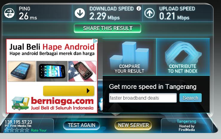 Cara Mengukur Kecepatan Koneksi Internet