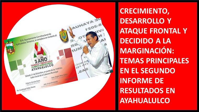 SEGUNDO INFORME DE RESULTADOS EN AYAHUALULCO