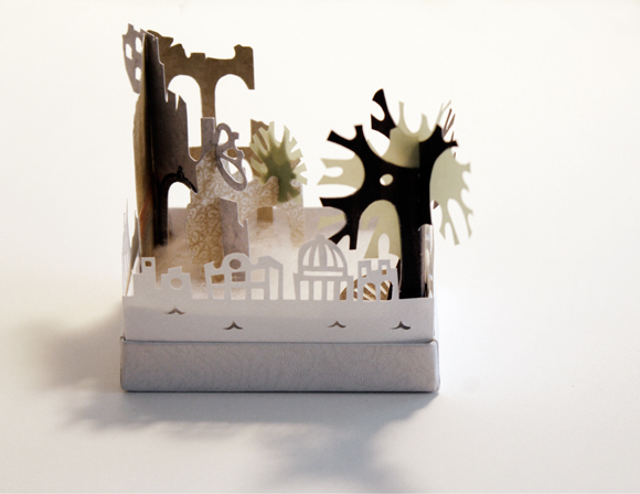 havana, paper cut, paper art, art in a box, diorama,
