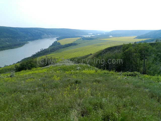 The viewpoint gives a magnificant view of the Peace River Valley