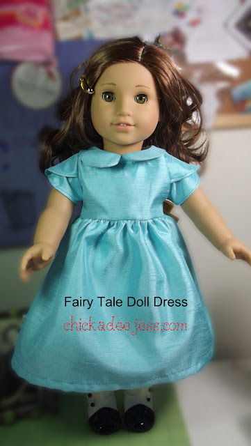 "Fairy Tale 18"" Doll Dress from chickadeejess.com"