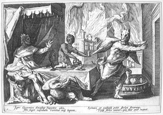 http://commons.wikimedia.org/wiki/File:Lycaon_turned_into_wolf-Goltzius-1589.jpg?uselang=el